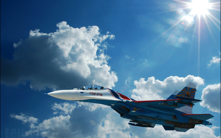 SU-27 - military, russian, aircraft, jet