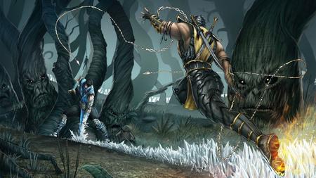 Sub Zero Vs Scorpion Mortal Kombat Video Games Background