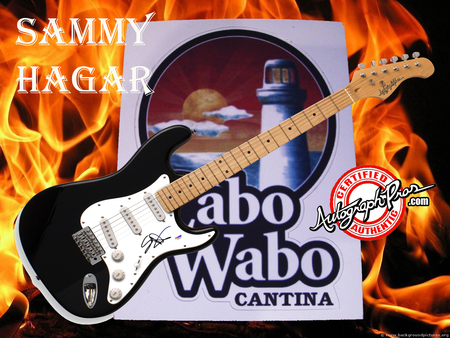 Sammy Hagar Autographed Guitar Free Wallpaper - autographed guitar, sammy hagar, music wallpaper, van halen