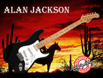 Alan Jackson Autographed Signed Guitar Free Music Wallpaper