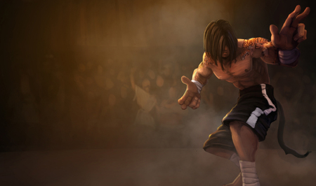 Blind Monk Splash - action, fighter, cg, lee sin, lee sin - the blind monk, blindmonk splash, adventure, blind monk, monk, splash, blindmonk, the blind monk