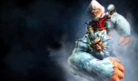 Yeti Splash - nunu - the yeti rider, cg, video game, yeti splash, league of legends, splash, the yeti rider, nunu, grungy, yeti