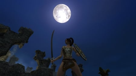 Age of Conan - age of conan, hd 1080p, hdtv 1080p, blue, dark, game, conan, full moon, dark age, rpg, print, shot