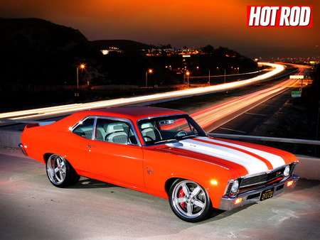 STROPE CHEVY NOVA - chevy nova hot rod car bike cro smc