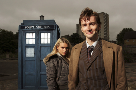 Doctor Who and Rose - doctor who, tardis, bbc, tenth doctor