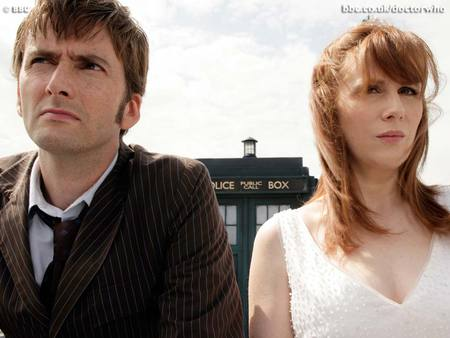 The Doctor and Donna Noble - doctor who, donna noble, tardis, david tennant