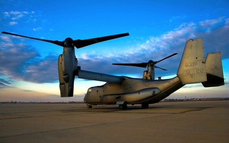 V-22 OSPREY - military, plane, aircraft, airplane, flight, fly