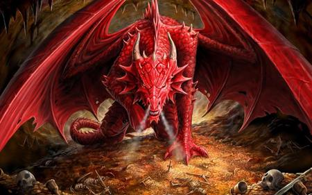 Yes, I AM Pissed Off! - pissed, red, fantasy, dragon, angry