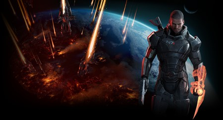 Mass Effect 3 Invasion Background - mass effect 3, earth, invasion, commander shepard