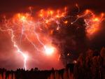 Lightning in Volcanic Ash
