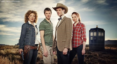 Doctor Who Comes to America - doctor who, amy, matt smith, river song, rory