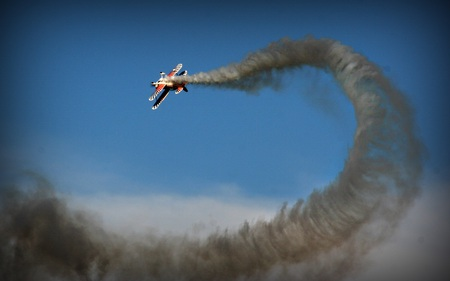 Areobatics - private, maneuvers, aircraft, plane, air show, smoke