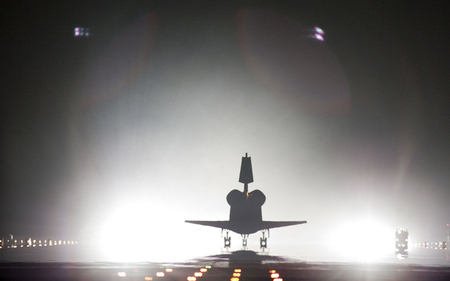 Shuttle Endeavour's Final Landing - last landing, endeavour, space, shuttle