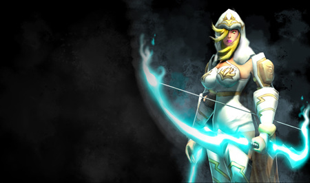Ashe - The Frost Archer - hd, action, cg, video game, league of legends, splash, fantasy, legends, bowmaster, the frost archer, hot, beauty, archer, female, lovely, blonde, ashe, sexy, adventure, bowmaster splash, ashe - the frost archer, girl
