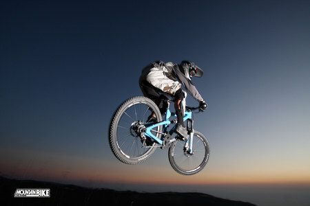 Jumping to the world - mountain, bycicle, freedom, mountainbike, bike, freeride, downhill