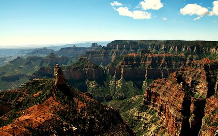grand canyon - amazing, vacation, tourism, beautiful, sky, clouds, canyon, wonders, photography, big, beauty, nature, huge