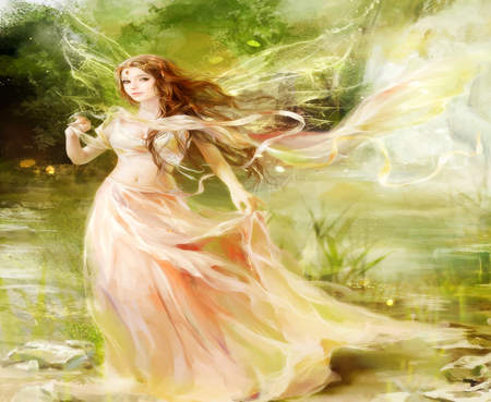 Fairy Woman Fantasy Amp Abstract Background Wallpapers On