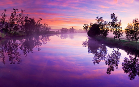 Water from the Rising Sun - sun, background, sunset, fog, sundown, rising, nice, multicolor, wallpaper, waterscape, sunbeam, sunrays, purple, white, border, hd, beautiful, leaves, roots, smoke, blue, horizon, lakes, customized, shadow, maroon, pond, nature, desktop, reflected, branches, pc, foggy, orange, high definition, yellow, clouds, lagoon, beauty, evening, sunrise, morning, rivers, widescreen, trees, sky, panorama, water, cool, awesome, computer, sunshine, photoshop, landscape, colorful, brown, laguna, trunks, photography, grove, mirror, river, pink, amazing, photo, multi-coloured, colors, creek, paisagem paisage, leaf, summer, colours, reflections, natural