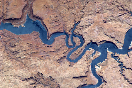 Lake Powell, Utah, USA - utah, powell, space, nespoli, lake, paolo, usa, nasa, iss, esa