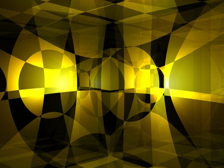 Yellow Black Checker Illusion 3d And Cg Abstract Background