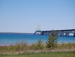 Mackinac Bridge over the Great Lakes