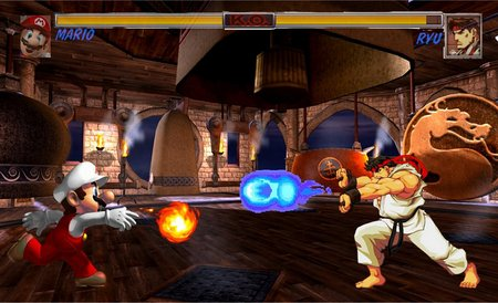 Ryu Vs Mario Street Fighter Video Games Background Wallpapers