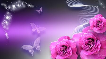 Pink on purple flowers nature background wallpapers on desktop pink on purple mightylinksfo