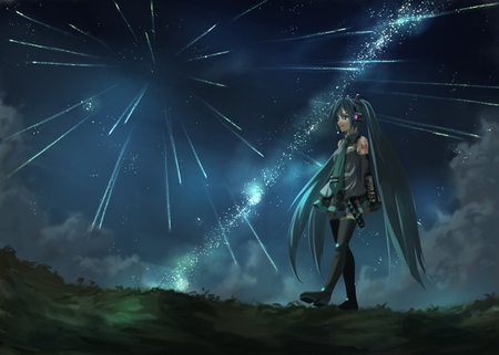 Meteor Shower Other Anime Background Wallpapers On