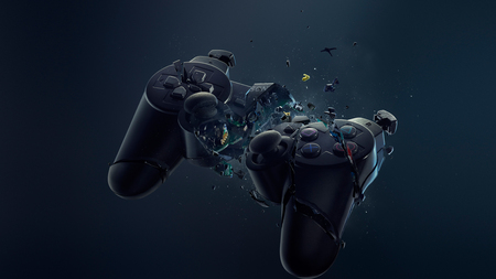 Broken Ps3 Controller - controller, abstract, ps3, smashed
