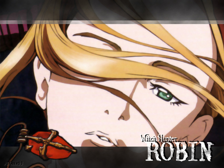 witch hunter robin - blonde hair, robin, blue eyes, witch hunter robin