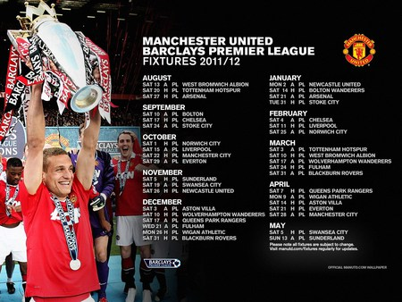 MANCHESTER UNITED 2011/12 FIXTURES - manchester united, red devils, champions, man utd