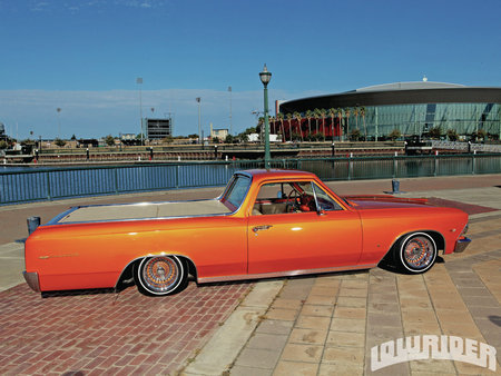Orange EL - gm, camino, bowtie, 1966