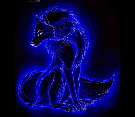 Blue Wolf 3d And Cg Abstract Background Wallpapers On Desktop Nexus Image 703112