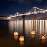 Oakland Bay Bridge at Night f2