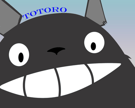 totoro - giblii, totoro, neighbor, happy face