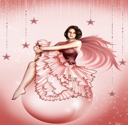 Pink Pearl Fantasy Abstract Background Wallpapers On
