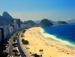 Copacabana Beach Aerial View of Rio de Janeiro, Brazil