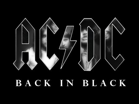 AC/DC - Back in Black - logo, rock, music, acdc, heavy, band, metal, back, black