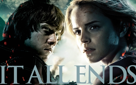 It All Ends Ron and Hermione 4800x3000 - part 2, hermione, deathly hallows, harry potter, hp7, ron