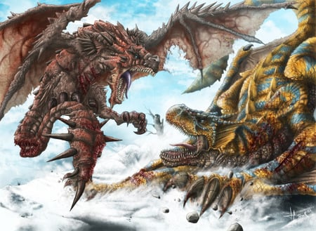 Monster hunter freedom 2 rathalos vs tigrex tigarex