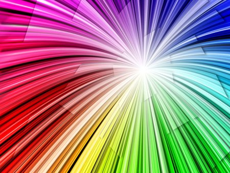 Radial Rainbow - red, 3d, gree, yellow, rainbow, colo, other, blue