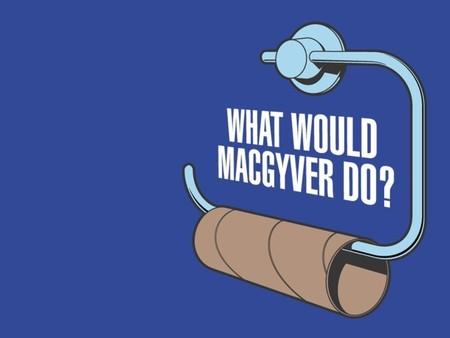 Macgyver Toilet Paper - toilet paper, macgyver, blank roll