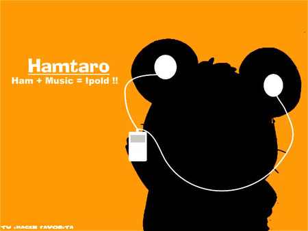 hamtaro ipod - cute, ipod, hamster, orange, ham-ham, hamtaro