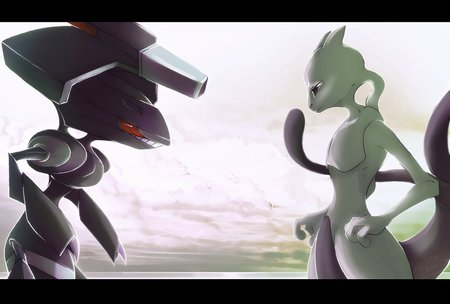 Mewtwo Vs. Genesect - vs, genesect, pokemon, mewtwo