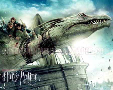 Harry Potter 7 Part 2 In Dragon Movies Entertainment Background