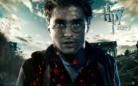 Harry - hp7, deathly hallows, harry potter, it all ends, part 2, hogwarts