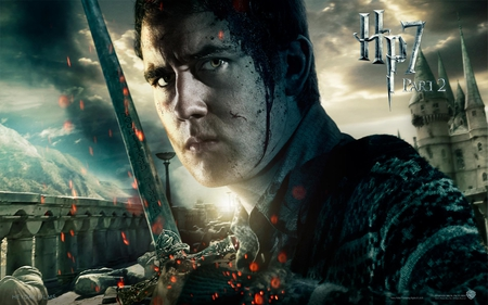 Neville - it all ends, hogwarts, part 2, deathly hallows, hp7, harry potter