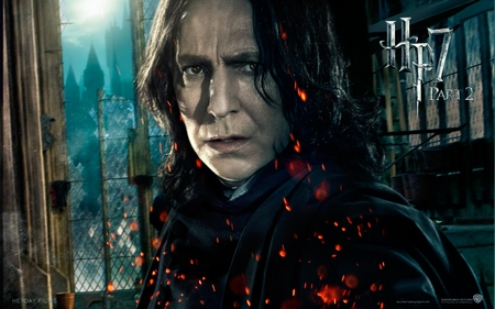 Snape - it all ends, hogwarts, part 2, deathly hallows, hp7, harry potter