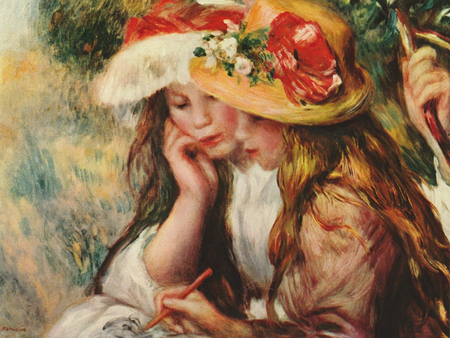 Renoir French Impressionist painting - art, french painters, beautiful, children, painting