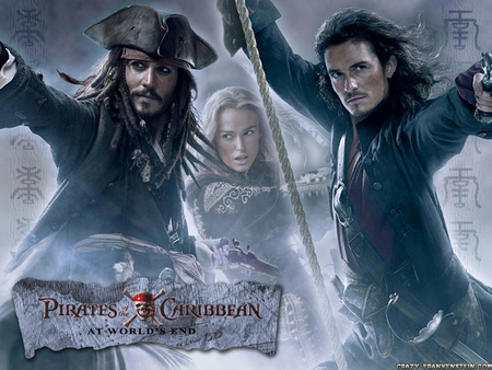 Pirates Of The Caribbean 3 Movies Entertainment Background